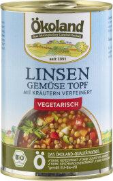 Ökoland Bio Linsen-Gemüse Topf 400g