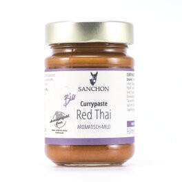 Sanchon Bio Currypaste Red Thai 190g