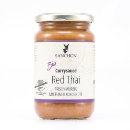 Sanchon Bio Currysauce Red Thai 340g