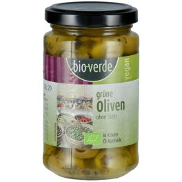 Bio-Verde Bio Grüne Oliven ohne Stein 200g