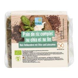 Pural Bio Chia-Brot mit Leinsamen 375g