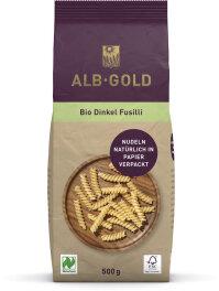 ALB-GOLD Fusilli Dinkel Papierverpackung 500 g