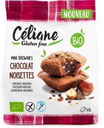 Céliane Mini-Brownies-Haselnuss-Schoko glut 170 g