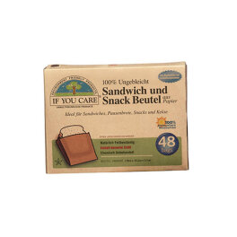 If you care Sandwich und Snackbeutel