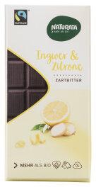 Naturata Bio Chocolat Halbbitter Ingwer-Zitrone 100g