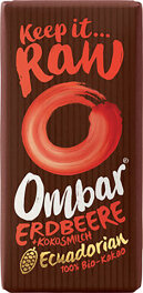 Ombar Roh-Schokolade Strawberry 35g