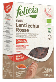 Felicia Rote Linsen Pasta Fusilli 250g