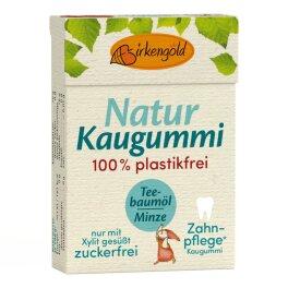 Birkengold Xylit Kaugummi Teebaumöl Naturk.mas 28g