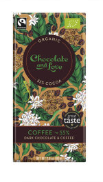 Chocolate and Love Coffee 55% Dark 80g