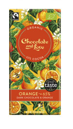 Chocolate and Love Orange 65% Kakao Dark 80g