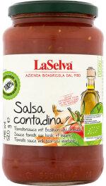 LaSelva Salsa Contadina Tomatensauce Basilikum 520g