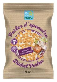 Pural Dinkel Perlen Knoblauch-Zwiebel 125g