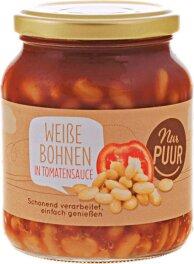 Nur Puur Weiße Bohnen in Tomatensauce 350g