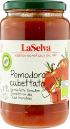 LaSelva Bio Pomodoro Cubettato gewürfelte Tomaten 520g