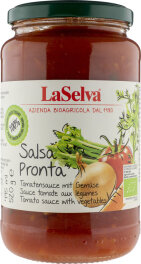 LaSelva Bio Salsa Pronta Tomatensauce mit Gemüse 520g