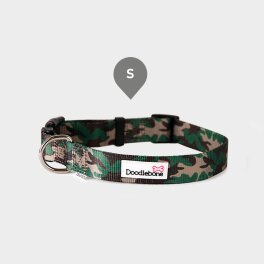 Doodlebone® Bold Hundehalsband - Gemustert Tarnfarbe;...