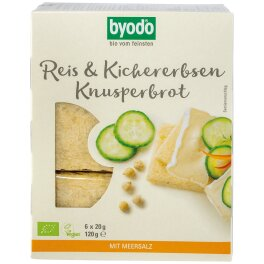Byodo Bio Knusperbrot Reis & Kichererbsen 120g