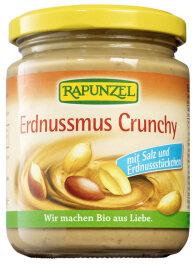 Rapunzel Erdnussmus Crunchy mit Salz Bio 250g